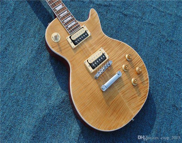 Free Shipping,Slash 1959 Tiger Flame Mahogany Body Ebony fingerboard Electric Guitar