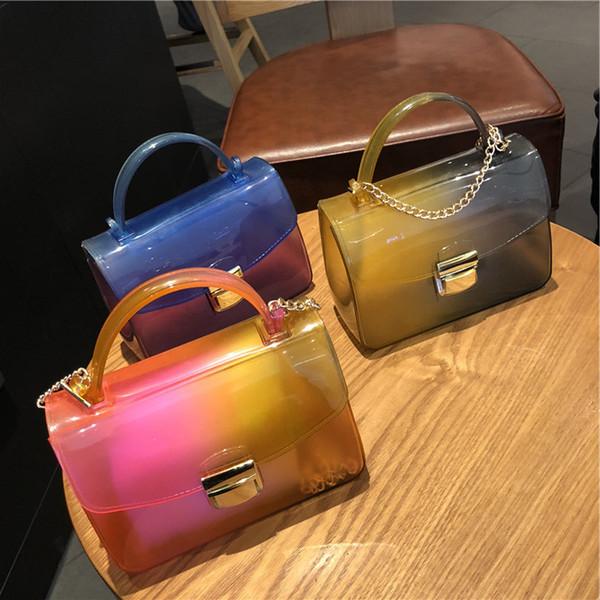 Designer Handbags Womens Crossbody Gradient Jelly Wrapper Chain Small Square Style Version Single Shoulder Oblique Span Mini Bag New Arrival
