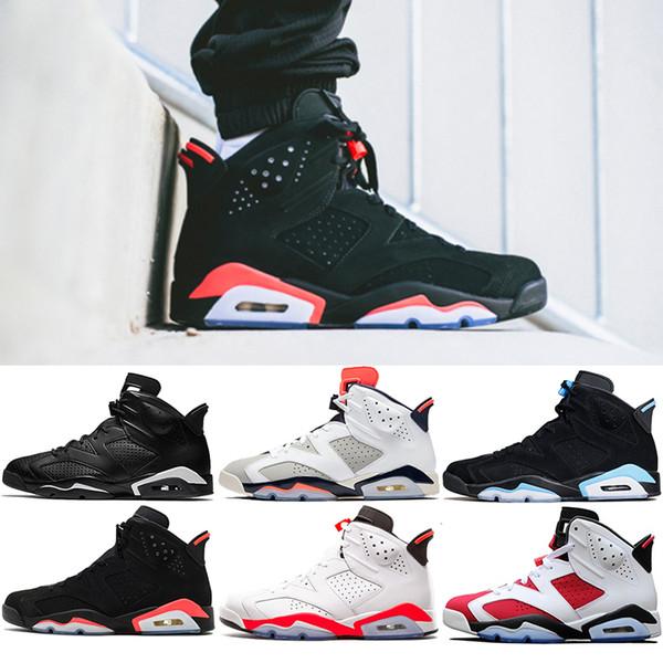 Yeni Bred 6 6 s Erkek Basketbol Ayakkabı Tinker UNC Siyah Kedi Kızılötesi Beyaz Carmine Erkekler Tasarımcı Eğitmenler Spor Atletik Sneakers Boyutu 8-13