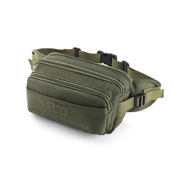 2019 Casual Waterproof Nylon Waist Bag Men Money Phone Fanny Pack Vintage Men's Waist Belt Bag Small Travel Packs Male