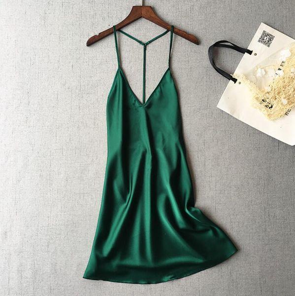 Chemise de nuit verte