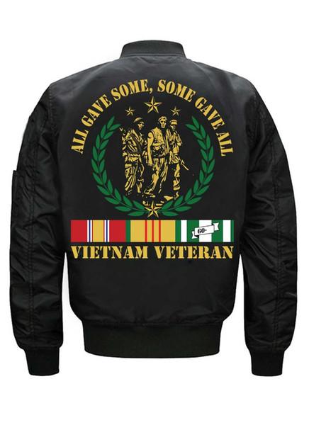 2019 New Vietnam Veterans Print Men's Loose Casual Jacket American Size Factory Direct men jackets jackets and coats