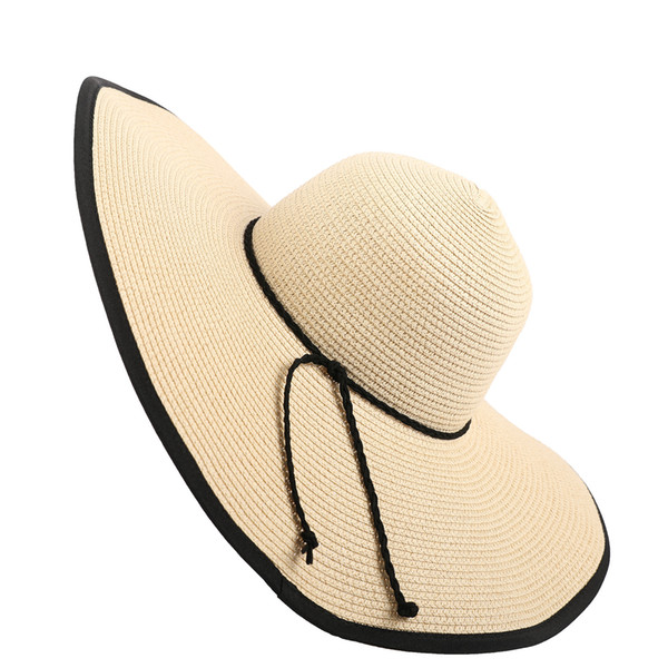 Straw hat spring and summer new casual travel woven female wild outdoor sunscreen sunscreen UV protection along the beach hat