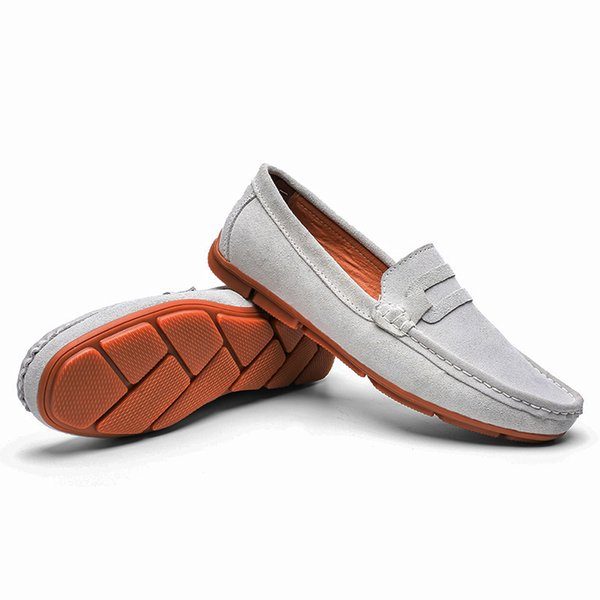 Casual Leather Loafer Shoes Men Soft Comfortable Driving Shoes Men Moccasins Footwear Mokasin Kasual 5#24D50