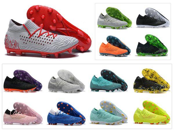 New Mens Future Netfit 19,1 CC FG / AG Hacked Paquet Reus Suarez Griezmann High Low cheville Power Up Football Football Chaussures Crampons