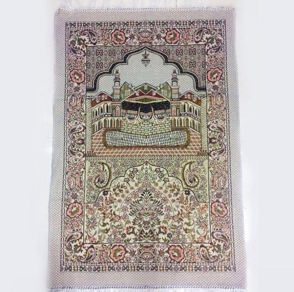 İslam Müslüman Namaz Mat Salat Musallah Namaz Halı Tapis Halı Tapete Banheiro İslam Dua Mat 70 * 110 cm SN2413