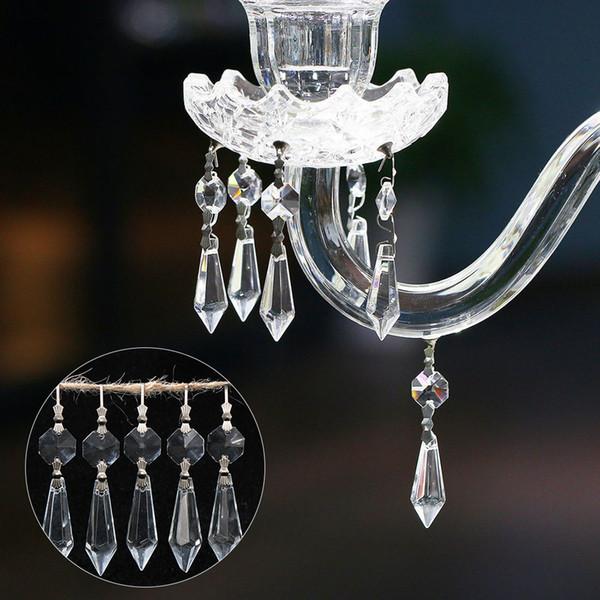 Fashion Pendants Clear Crystals Chandelier Glass Lamp Prisms Parts Hanging Drops Pendants 38mm Rainbow Sun Catcher Decor indoor