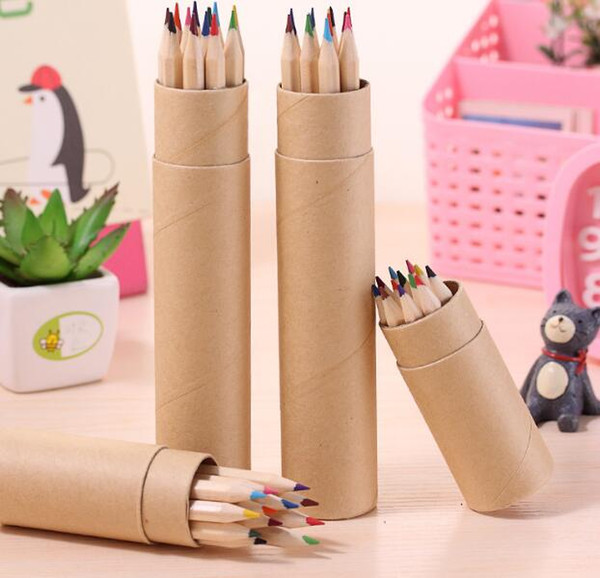 best selling eco-friendly colored Lead Color drawing pencil wood Colour Pencil Sets of 12 colour kids colored drawing pencils children Graffiti pens