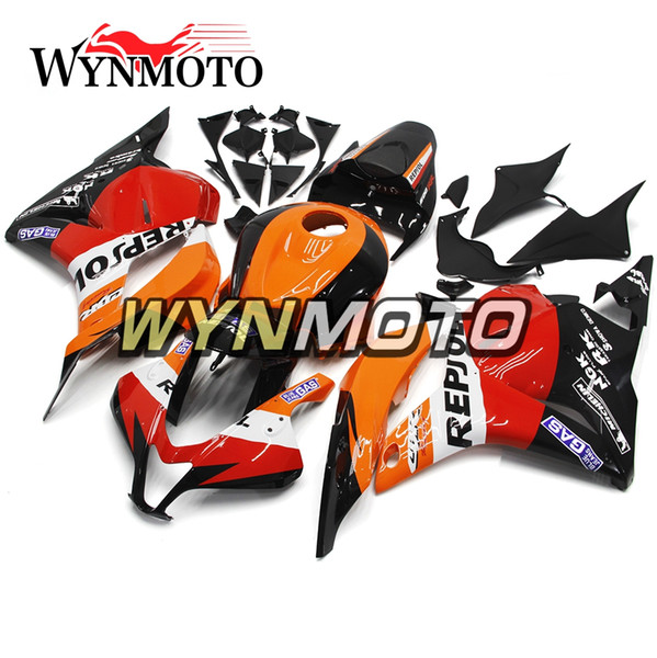 Complete Motorcycle Fairings For Honda CBR600RR F5 2009-2012 ABS Plastic Injection Motorbike Kits Cowls Orange Red Black Panels New Frames