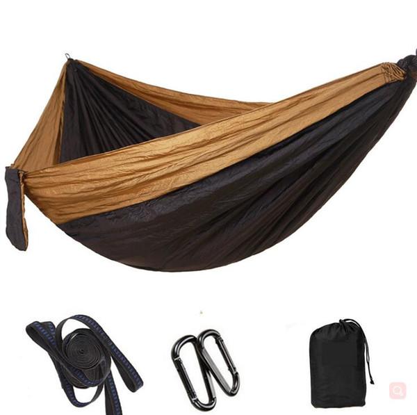 Outdoor Camping Hängematte zusammenklappbaren Innen Schaukel Doppel Person Parachute Nylon Stabile Patchwork 270 * 140 cm 44 Farben YYSY372
