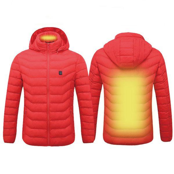 Top Imperméable Veste Chauffée Hommes Femmes Smart Thermostat Ski Vêtements Vêtements Coupe-Vent En Molleton Chaud Veste Unisexe D'hiver Randonnée Vestes