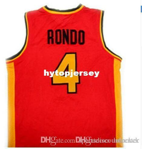 RAJON RONDO #4 OAK HILL HIGH SCHOOL BASKETBALL JERSEYS Embroidery Stitched Personalized Custom any size and name Jersey NCAA