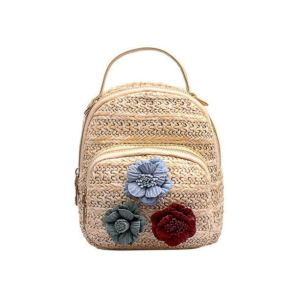 New Women Bag Lovely Girl Small Handmade Travel Rattan Straw Bag Fashion Messegner Shoulder Gift Chinese Wind