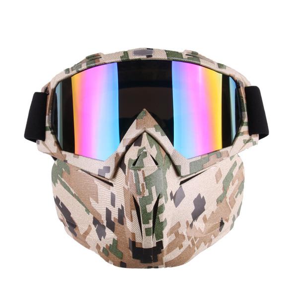 f246fd208e57c PTU Motocicleta À Prova de Vento À Prova de Poeira Máscara Removível Óculos  de Equitação Mountain