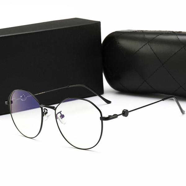 2019 ретро дизайнер металл ноль диоптрий очки высококлассные круглые очки рамка оптическая равнина близорукость рамка зеркало унисекс очки с логотипом