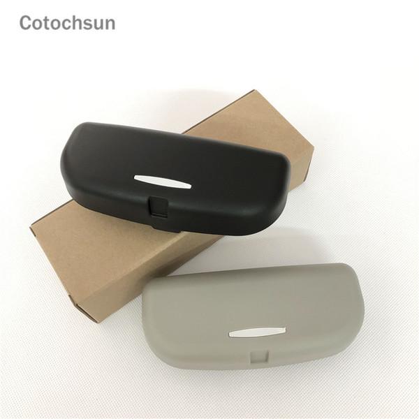 cotochsun car styling sun visor glasses case for infiniti fx-series q qx-series coupe ex37 ex25 jx35 ex35 g m class