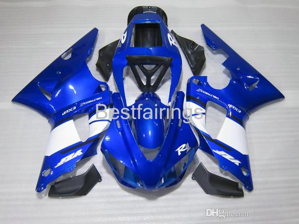ZXMOTOR Hot sale fairing kit for YAMAHA R1 1998 1999 white blue fairings YZF R1 98 99 FG57
