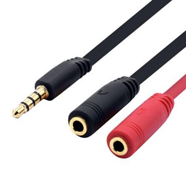 3,5 мм разветвитель кабель Jack микрофона наушников аудио сплиттер кабель мужской 2 женский адаптер для планшетных ПК ноутбук телефон Android смартфон