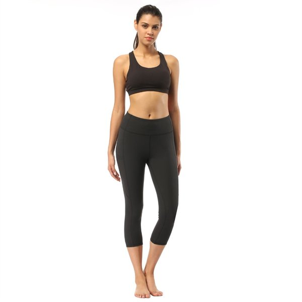Outdoor Apparel Women Sports wearYoga Capris Pants Force Exercise Tights Female Sports Fitness Running Gym Yoga Trousers Slim #700900