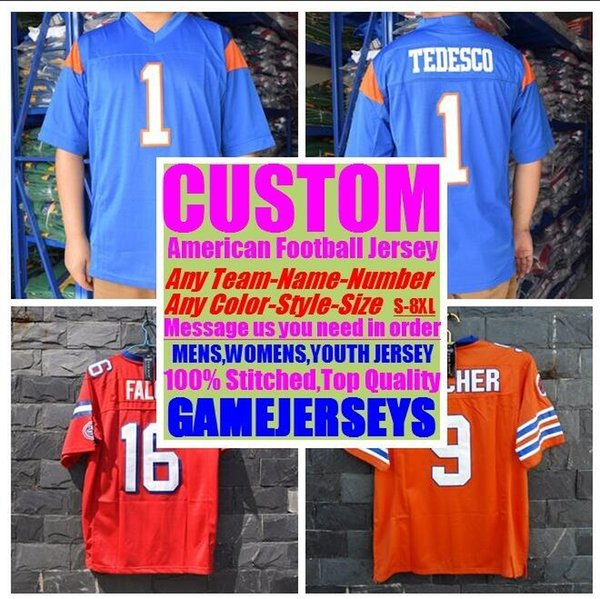 Customized american football jerseys college cheap authentic olive camo sports jersey stitched mens womens youth kids 4xl 5xl 6xl 7xl