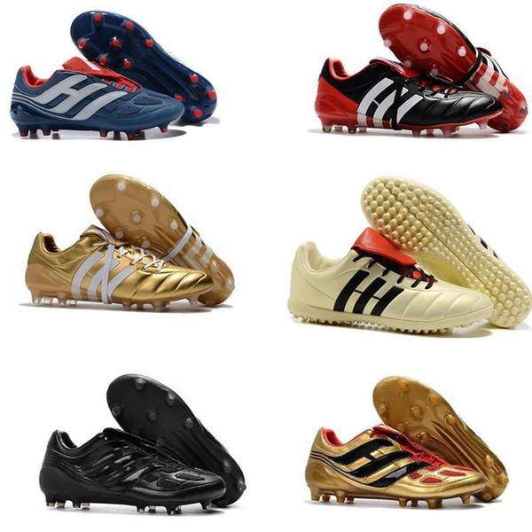 Futbol Erkek Cleats Predator Hassas Tf Ic Çim Futbol Boots Predator Mania Şampanya Fg Kapalı Futbol Ayakkabıları Yüksek Kalite Ucuz Sıcak