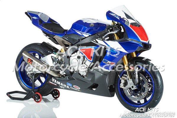 ACE KITS Motorcycle fairing For YAMAHA YZF R1 2015-2016 Injection or Compression Bodywork astonishing black blue NO.2214