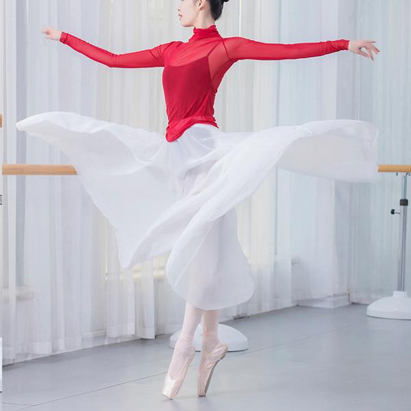 ballet skirt women chiffon long dance skirt dresses for women ballet tutu contemporary wear