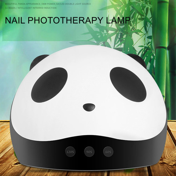 3 in 1 Panda 36W LED UV Lamp Nail Dryer Manicure Double Light Auto Sensor Drier USB Charge For All Gel Polish Curing Nail Art Tools