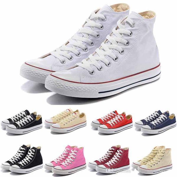 preço promocional! QUENTE Novo 15 Cor Todo o Tamanho 35-46 Low-Top High-Top adulto sports Clássico Sapato de Lona Sapatilhas das Mulheres Sapato de Lona das Mulheres