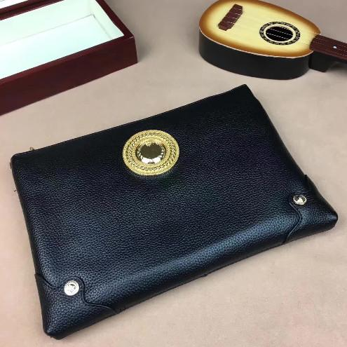 Medusa leather handbag men's leisure envelope bag large capacity handbag