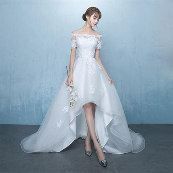 désherbage blanc robe de plage élégante robe De Noiva robe de mariée romantique la mode féminine élégante formelle robes de soirée