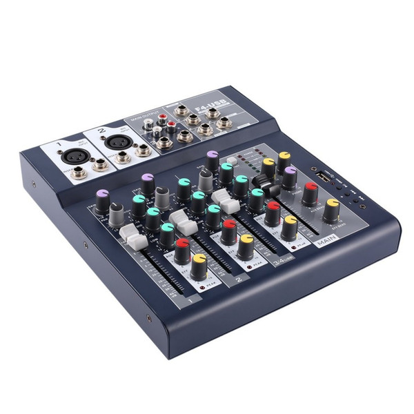 F-4 4 Channel Professional Live Mixing Audio Sound Console Network Anchor Portable Mixing Device Vocal Effect Processor