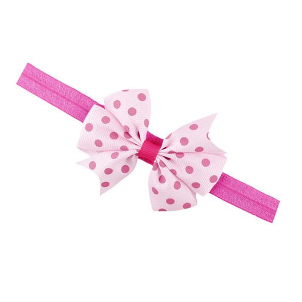 Fascia elastica per bambini Lovely Hair Hair Princess Baby Girl Bowknot Hairband fascia per capelli fascia per capelli Copricapo in cotone