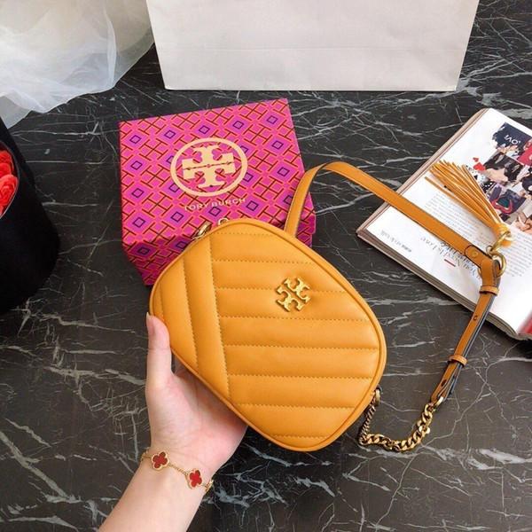 Новый 2019 Европейская и американская мода женская сумка на плечо наклонная цепь пакет из натуральной кожи сумки 0430