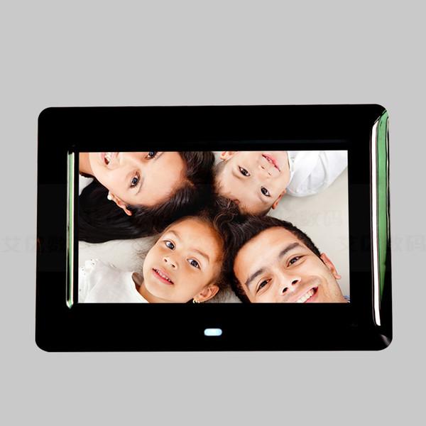7-inç HD dijital fotoğraf çerçevesi Video Oynatıcı dijital fotoğraf çerçevesi ile müzik video Oynatıcı Çok fonksiyonlu Fotoğraf Çerçevesi