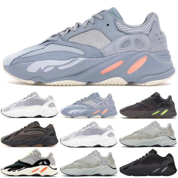 Adidas yeezy 700 V2 Statique V1 Mauve Gris Solide 700 Vague Runner Designer Chaussures De Course Kanye West 700 Hommes Femmes Chaussures De Sport Sneakers 36-46