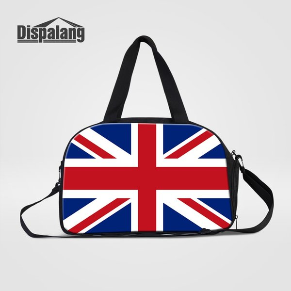 New Design UK/USA Flag Pattern Women Travel Totes 3d Printing Duffle Bags Casual Luggage Travel Handbags Weekend Bag For Student