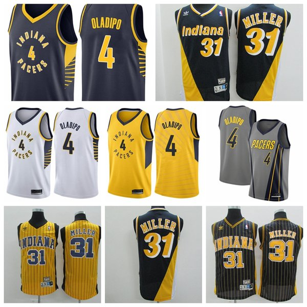 buy online 19f56 9aa56 2018 2019 Men'S 4 Victor Oladipos 31 Reggie Millers Indiana Reliablequality  Pacers Jersey Swingman Basketball Jersey UK 2019 From Double_angel, UK ...