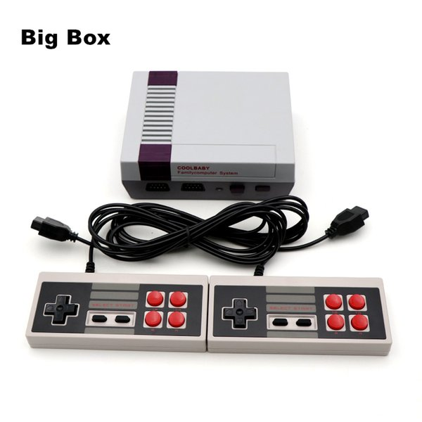best selling Coolbaby Mini TV Video Handheld Game Console 620 Games 8 Bit Entertainment System For Nes Classic Games Nostalgic Host Big Box Cradle