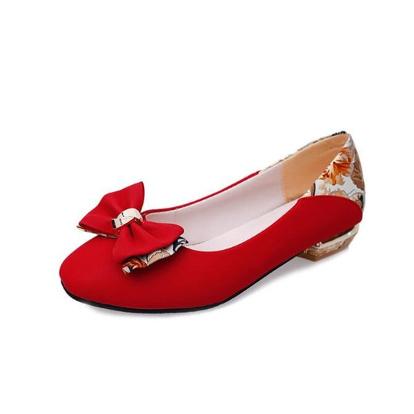 Shoes woman Classical Simple Design Spring And Summer With The New single-breasted Korean Side Bow Head .LSS-751