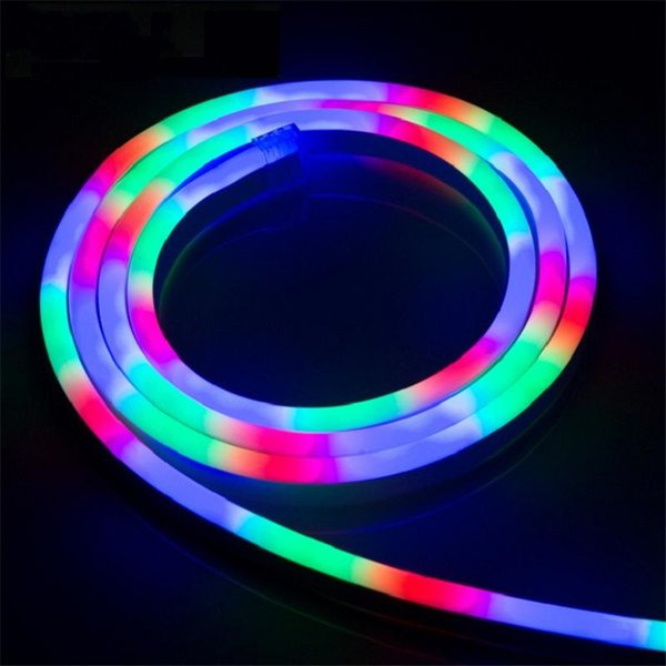 best service 62250 2f23a 2019 50M164ft AC220V RGB Neon Flex Color Chasing Neon Strip Light SMD5050  14x26mm Flexible Neon Tube Light IP67 Waterproof Lighting Decoration From  ...