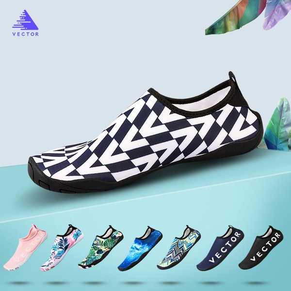 Vecteur Hommes Femmes Chaussure De Natation Chaussures D'eau Épaisse Plage Sneaker Aqua Pantoufles Non-slip Respirant Séchage Rapide Barefoot Doux Chaussette