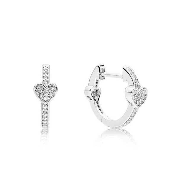 925 Sterling Silver Brand New Temperament Chic ALLURING HEARTS EARRINGS Original Jewelry Women's Holiday