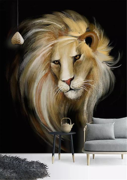 Custom Phone 3d Wallpaper European Style Hd Hand Painted Lion Indoor Porch Background Wall Decoration Mural Wallpaper Hq Hd Wallpapers Hq Wallpapers