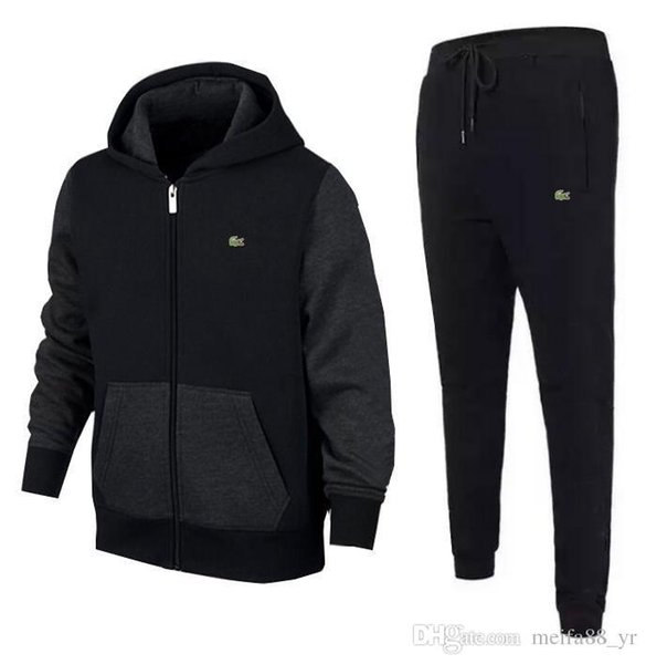nuevo Traje de ropa deportiva para hombre Sudadera Chándal Sin hombre Casual Zipper activo Chaqueta + Pantalones Conjuntos m-2xl
