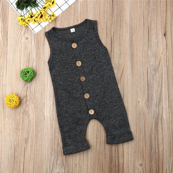 top popular Infant baby girl boy cotton romper pajamas jumpsuit sleeveless bodysuit cute baby kid clothing 2020
