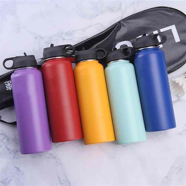 Copa de vacío botella de agua botellas de acero inoxidable Waters boca ancha portátiles colores de alta capacidad Mezclar F1 32mx
