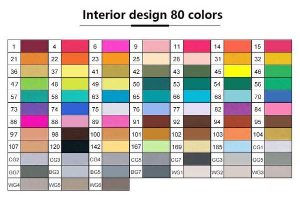 التصميم الداخلي 80 الألوان