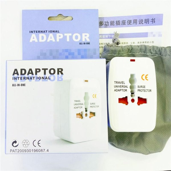 All in One Universal International Adapter Charger Adaptador de Tomada World Travel alimentação com ficha conversor AU US UK UE