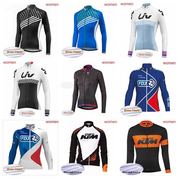 Equipo FDJ KTM LIV Ciclismo Chaqueta de ciclismo chaqueta de ciclismo de invierno térmica polar a prueba de viento ropa de bicicleta ropa deportiva ropa deportiva 52117